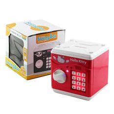 OHOME Coin Bank Kitty MS-678B Saving Box ATM Mainan Celengan Deteksi Uang Kertas - Merah