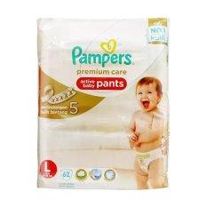 Pampers Premium Care Active Baby Pants Popok Celana - L-62 (62pcs)