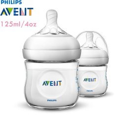 Philips Avent SCF690/23 Bottle Natural New Spiral 125 ml - Twin Pack (Putih)