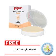 Pigeon - Bedak Padat Bayi / Compact Powder + Gratis Magic Towel