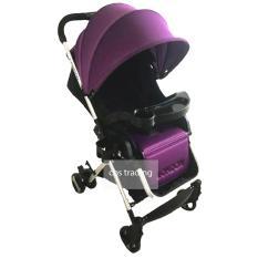 Pliko Baby Stroller 618 London Alumunium Lightweight - Kereta Dorong Bayi - Ungu