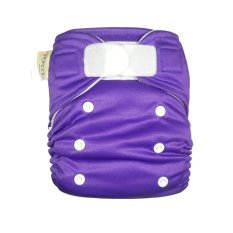 Pokado Popok Kain Cuci Ulang Velcrow - Cloth Diapers Polos Purple
