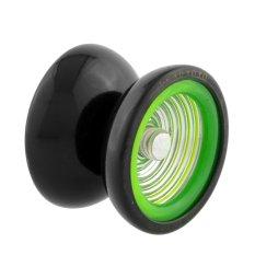 Professional YoYo Metal Ball Bearing Rotate Trick Gift Kid Toy Black & Green - intl