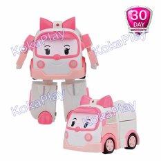 Robocar Poli Transformable Mainan Mobil Robot Berubah Amber