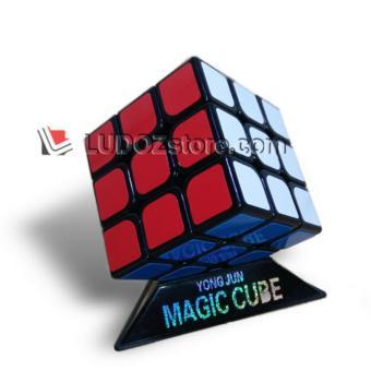 Rubik 3x3 Guanlong BLACK Base Anti Pop-Ping Out Cocok Utk SPEED Round-Ed