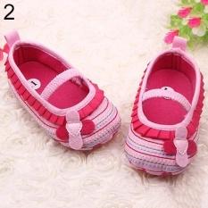 Sanwood® Toddler Infant Baby Girl Flower Shoes Crib Prewalker Newborn To 18 Months Babyshoes 11cm (Pink) - intl