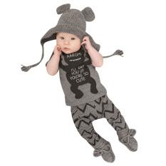 Set pakaian bayi laki-laki (abu-abu) - International