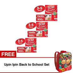 SGM Eksplor Presinutri 3+ Susu Pertumbuhan - Vanila - 900gr - Bundle isi 3 Box FREE Upin Ipin Back to School Set