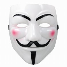 Skytop Topeng Vendetta Mask Occupy Anonymous Cosplay - Putih
