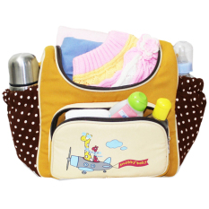Snobby Tas Bayi Medium Saku Oval Print Awesome Dotty - Kuning