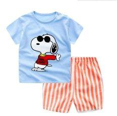 Summer Baby Boy Girl Clothes Short Top + Pants 2pcs/set Cartoon Sport Suit Baby Clothing Set Newborn Infant Clothing - Dog - intl