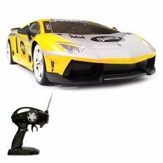 Super Racer RC Mobil Drift Body Metal Lamborghini Aventador Gama Skala 1/16 - Kuning