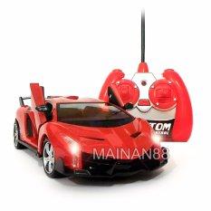 Super Racer RC Mobil Lamborghini Veneno Skala 1/24 Pintu Buka Tutup dengan Remote - Merah