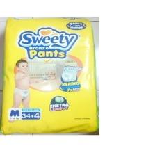 Sweety Bronze Pants Popok Bayi dan Anak Unisex Diapers Tipe Celana Size M - 34 + 4 Pcs