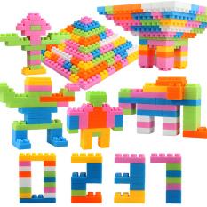 Teamtop 1 Set Plastik Teka-Teki Anak Bangunan Batu Bata Warna-Warni Pelatihan Praktek Kemampuan Mainan Pendidikan