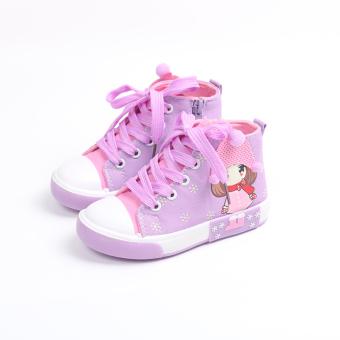 Tinggi atas siswa sekolah dasar gadis sepatu musim gugur sepatu wanita