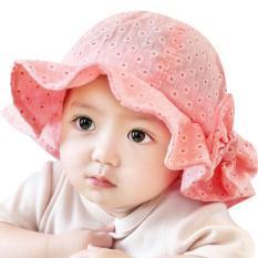 Topi Bayi Perempuan Musim Panas Luar Ruangan (Merah)