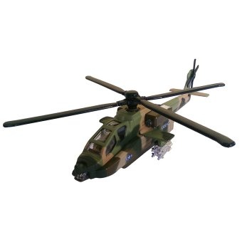 Toylogy Die Cast Metal Helicopter Militer 8120 - Military Green