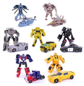 Transformation 7PCS / LOT Robots Optimus Prime Bumblebee Sideswipe Starscream Action Figure Toy Legends Classic Toys