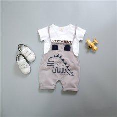 Z mall bayi anak laki-laki gadis lengan pendek overall baju monyet set pakaian boy