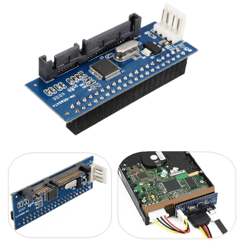 40-Pin IDE Female To SATA 7+15Pin 22-Pin Male adapter PATA TO SATA Card (Intl)