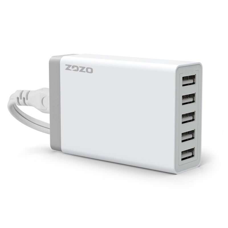 40W / 8A 5-Port Desktop USB Charger for Galaxy S6 and S6 Edge, iPhone 6/6 Plus, iPad and More (Intl)