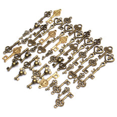 49 X Chic Retro Antique Gold Plated Bronze Mixed Keys Shape Pendant Findings Hot - Intl