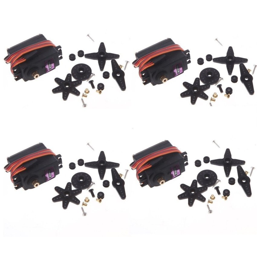 4pcs MG946R Torque Digita RC Metal Gear Servo for Helicopter Car Boat Model S3 (Intl)