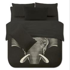 4pcs / Set New Creative Elephant Printing Bedding Set Children Kids Bedclothes Bedding Sets / Duvet Cover / Bed Sheet / Pillowcases Set (Full Size)