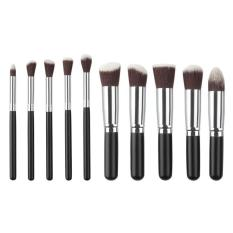 10 buah/set kuas Makeup dasar pencampuran kuas kosmetik Make Up alat - International