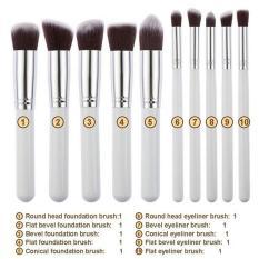 10 pcs Professional Makeup Brush Set Maquiagem Beauty Foundation Powder Eyeshadow Cosmetics Make Up Brushes Kabuki Brush Tool - intl
