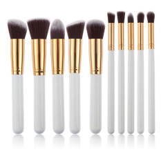 15 Colors Contour Cream Makeup Concealer Palette 10pcs Brush White Golden - intl
