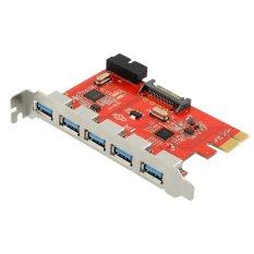 5 Port USB 3.0 To Pci-E Pci Card Adapter