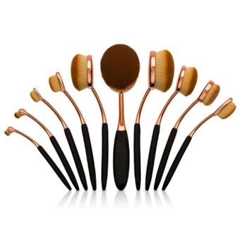 Ai Home 10 Pcs Sikat Gigi Bentuk Oval Foundation Brush Set Kuas Kosmetik Set Perawatan Wajah