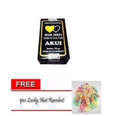 Akui Sabun Belerang Asli Obat Penyakit Kulit Obat Gatal BPOM / 1 Pcs + Free 1pcs Lucky Ikat Rambut