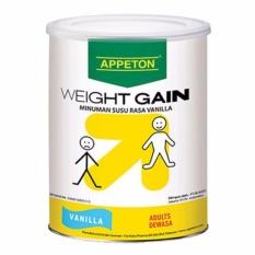 Appeton Weight Gain Adult vanilla - 450 gr, susu tinggi protein rasa vanilla / susu penambah berat badan / susu penggemuk badan / appeton- 1 pcs