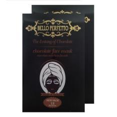 Bello Perfetto Masker Cokelat Untuk Wajah Penirus Wajah Isi 1.2pcs