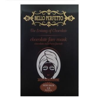 Bello Perfetto Masker Cokelat Untuk Wajah Penirus Wajah Isi 12