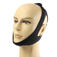 Berhenti Mendengkur Tali Pengikat Dagu Anti Mendengkur Sabuk Apnea Rahang Solusi Dukungan Tidur Hitam