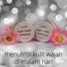 BEST SELLER !! Krim Malam Ertos - Ertos Night Cream Aman BPOM 100% Original