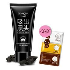 Bioaqua Masker Charcoal Carbon Activated Anti Komedo FREE Rorec Masker Blackhead 123