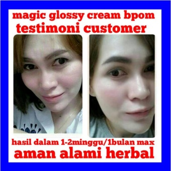 BPOM Magic Glossy Night Cream - Krim Malam Pemutih Kulit Wajah