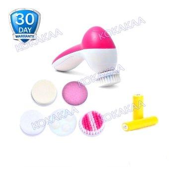 Cnaier 5 in 1 Face Cleanser Skiner plus Battery Bundle - Pink