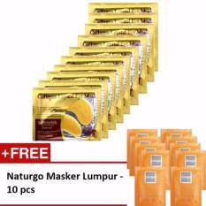 Collagen Crystal Eye Mask / Masker Mata - 10 Pcs + Gratis Naturgo Masker Lumpur - 10 pcs