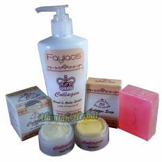 Cream Collagen siang dan malam plus sabun Collagen + Collagen Handbody lotion with Vit. E