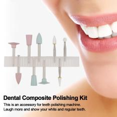 Dental Composite Polishing Kit Light-cured Resin Teeth Polishing Set for Low-speed Handpiece RA 0309 9 Grinding Heads - intl