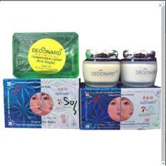 Deoonard Pemutih Kulit Wajah Cream - Paket Lengkap Original
