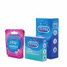 Durex Kondom Extra Safe Isi 12 + Together Isi 3 + Durex Play Vibration Ring