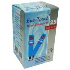 Easy Touch Strip Cholesterol isi 10 strip - Biru