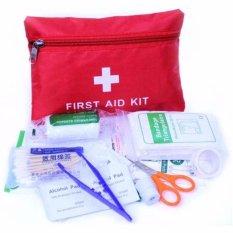 Eigia P3K Home Outdoor First Aid Kit 13 in 1 Paket Lengkap 13in1 Isi Alat Pertolongan Pertama pada Kecelakaan Terluka Saat Berpetualang Adventure Survival Berpergian Camping Hiking Praktis Mudah Dibawa Emergency Kits Perlengkapan Medis Ada Tas